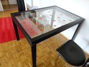 eleganter Glastisch Esstisch ausziehbar