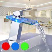 LED RGB Farbwechsel Designwasserhahn