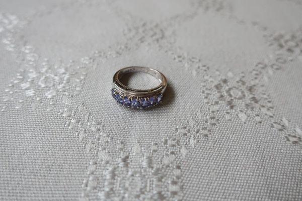 Verkaufe Tansanitring aus 925er Silber
