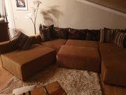 Wohnlandschaft Couch Sofa mit Hocker