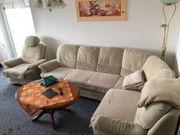 Sofa mit Sessel und Schlaffunktion