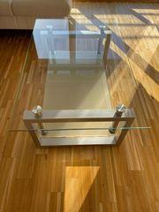 Couchtisch Glas Metall 110 x