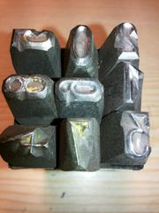Schlagzahlen Buchstaben Stempel Metallprägestempel Matritzen