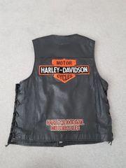 Harley Davidson Leder Weste