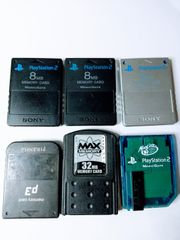 Playstation PS1 PS2 Memory Cards