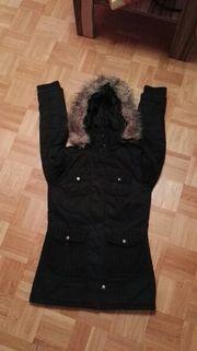 Damen Mantel Jacke schwarz Größe