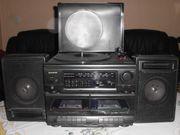 HIFI Anlage Doppelkasetter Schallplattenspieler Radio