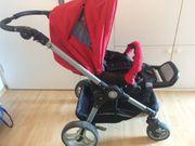 Kinderwagen teutonia rot