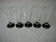 Verkaufe 5 Sektgläser Gläser Rapps