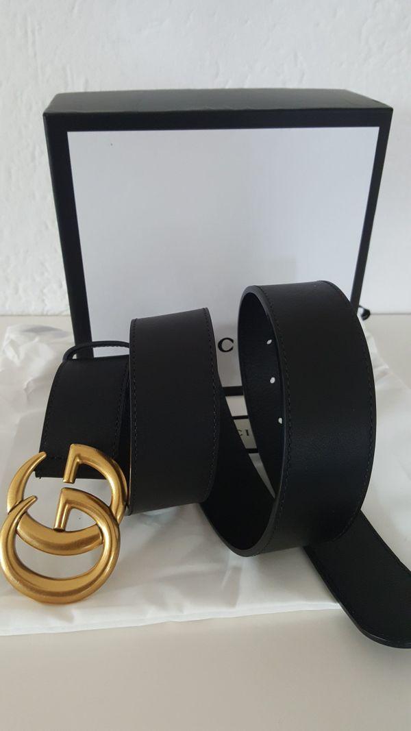 6b2fd58bb397d gucci gürtel damen orig. Gucci Gürtel Leder Belt GG Goldschnalle schwarz  Leder Unisex .