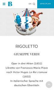 Eintrittskarte Rigoletto Bregenzer Festspiele 23