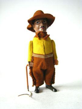 Schuco Charlie Chaplin als Cowboy Blechspielzeug Germany 1930 Top Zustand