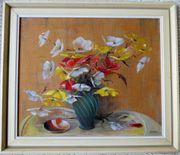 Gemälde Vase mit Blumen auf
