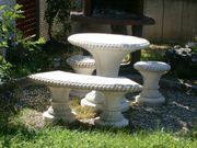 Steinmöbel Gartenmöbel Gartentisch Stein Bank