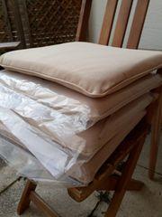 4 Sitzauflagen für Gartenstühle