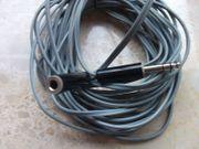 Klinken-Verlängerungskabel mit 6 3 mm