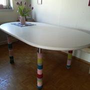 weiss lackierter kieferholztisch