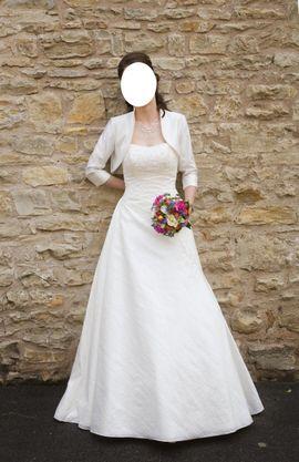 Alles für die Hochzeit - Hochzeitskleid elfenbeinfarben Gr 36
