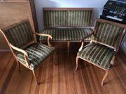 Sitzgarnitur Bank Stuhl antik