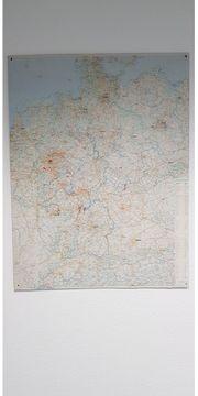 Große Deutschlandkarte in Wandbildformat