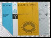Eintrittskarte - Olympiade 1972 München - Gymnastik