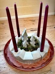 DIY Betondeko Adventskranz Weihnachtskranz Weihnachten