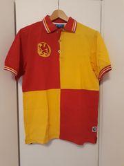 KSC Polo-Shirt rot-gelb Größe S