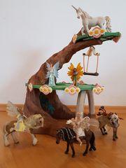 Elfenhaus Sommergrün mit Figuren