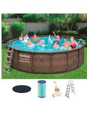 Bestway Steelframe Pool 427x107 Filterpumpe