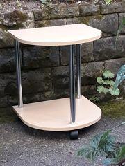 Pflanzenhocker Tischchen halbrund fahrbar neuwertig