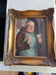 Ölbild Mönch