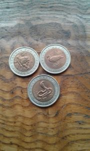 Münzen Bimetall 10 Rubel