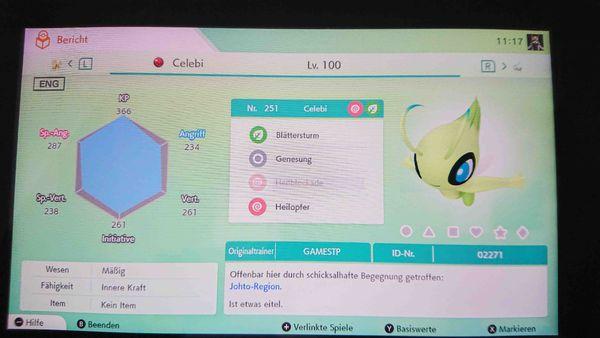 Pokemon Celebi Schwert Schild