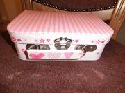 Kinder-Spiel-Koffer Pappe gut erhalten Aufbewahrungskoffer