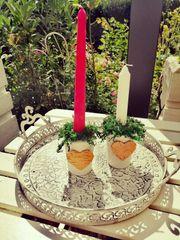 Kerzenständer Kerzenhalter Kerzenleuchter Herbst Herz