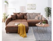 DELIFE Big-Sofa mit Hocker