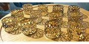 12 Servierten Ringe aus Metall