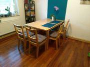 Ausziehbarer Esstisch 4x Stühle und