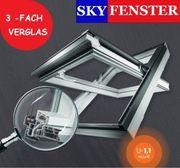 Kunststoff Dachfenster 3-Fach Verglasung Eindeckrahmen