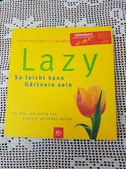 Neuwertiges modernes großformatiges Gartenbuch Lazy