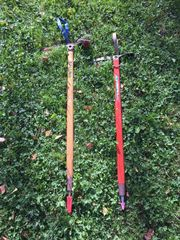 Bergsport -Bergsteiger - Ausrüstung Eispickel Eisen