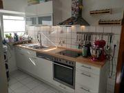 Küchenzeile incl Einbaugeräte Weiß Holz