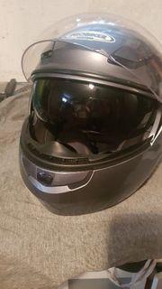 Probiker Multi-Jet Motoradhelem Silber L