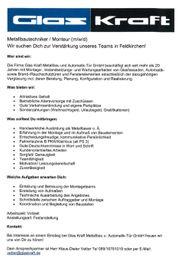 Metallbauer Monteur gesucht München-Feldkirchen