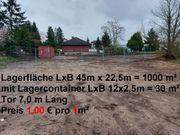 1000 m² Platz mit Lagercontainer