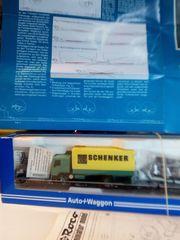 ROCO Auto Waggon Wippenwageneinheit Schenker