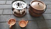 Kupfer Bowle Set