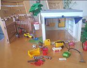 Playmobil Garage mit Fahrradstand
