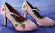 High Heels Pumps Erdbeere Größe
