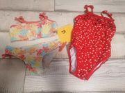 Badeanzug Bikini Gr 98 Set